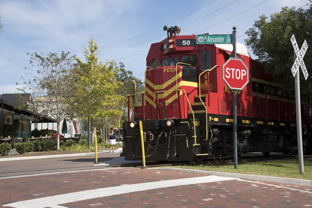 Take a ride on the Royal Palm Railway experience for dining or just a fun day out of things to do in Mount Dora
