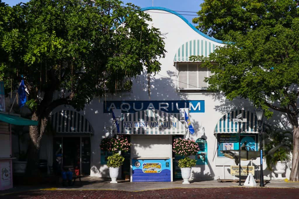 The exterior entrance to the Florida Keys Aquarium and Conservation Center.