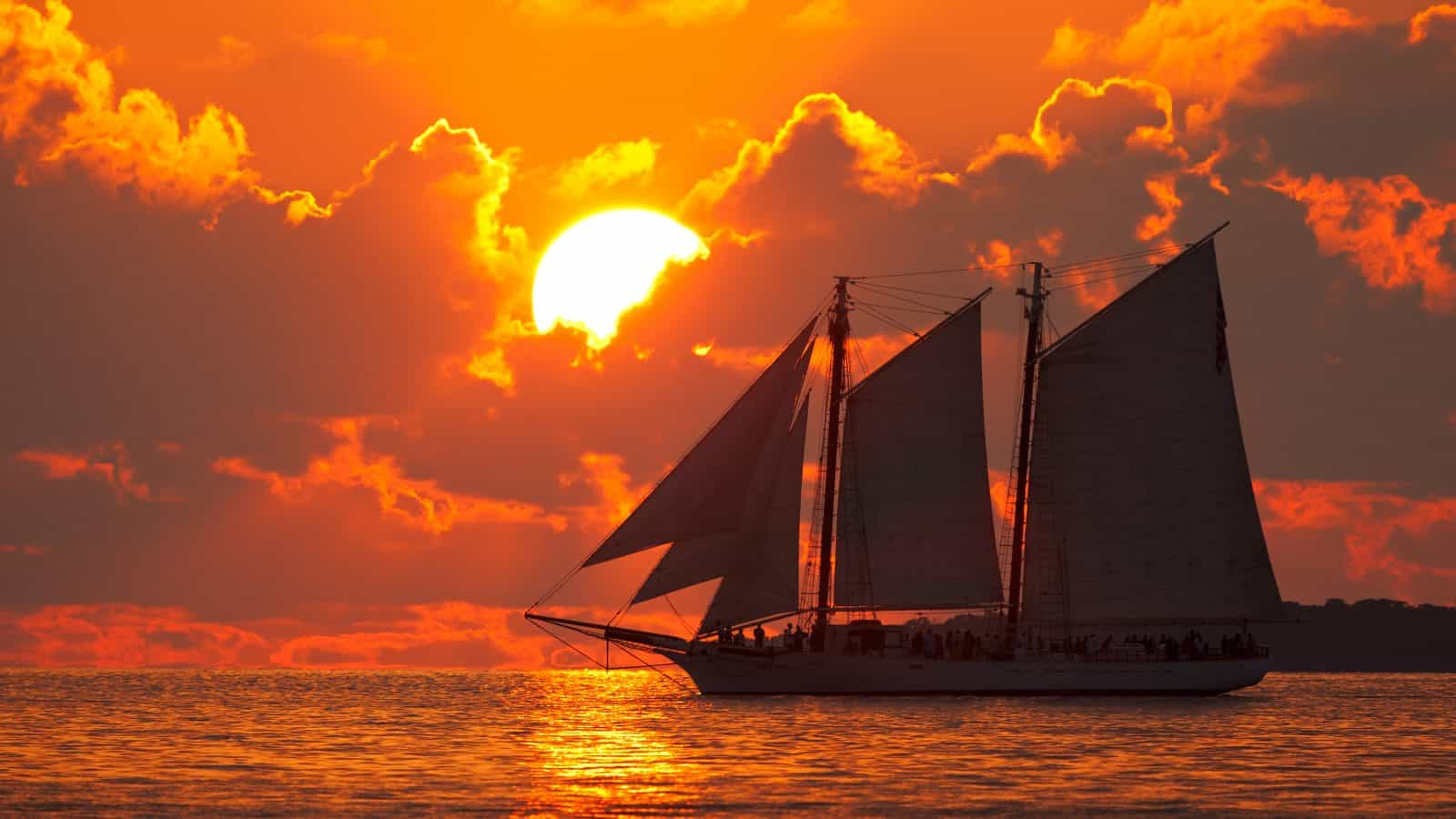 sunset boat tour is one of the best in key west