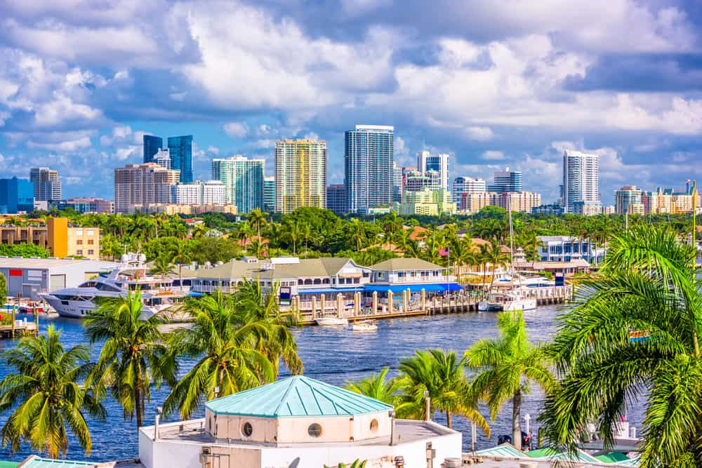 The port town of Fort Lauderdale glitters in the sunshine, one of the best day trips from Naples.