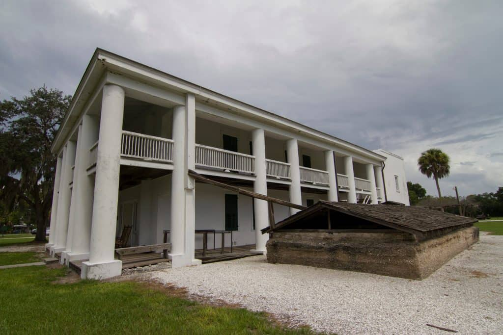 The Gamble Plantation Historic State Park's antebellum mansion, one of the best day trips from Naples.