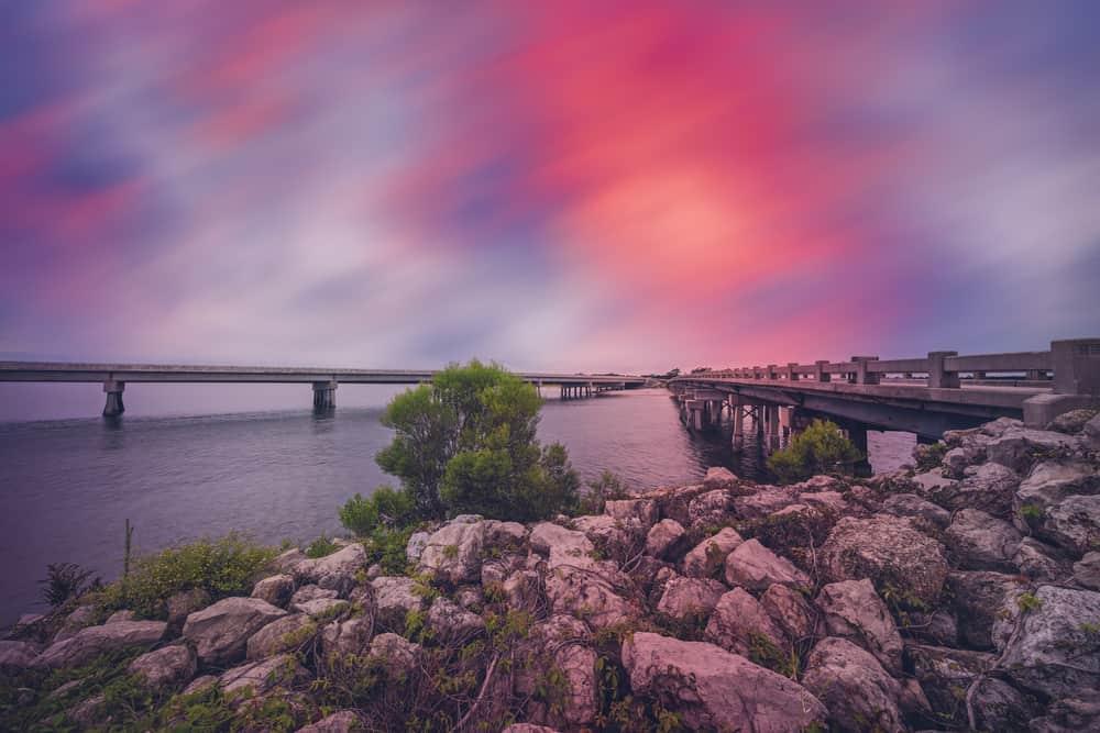 A pink and purple sunset on Amelia Island