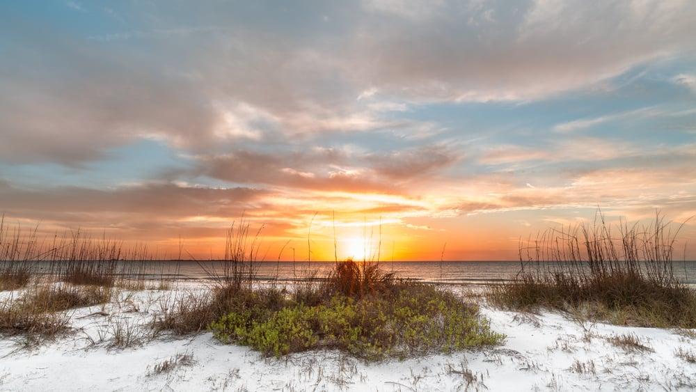 A sunset on St. Petersburg beach