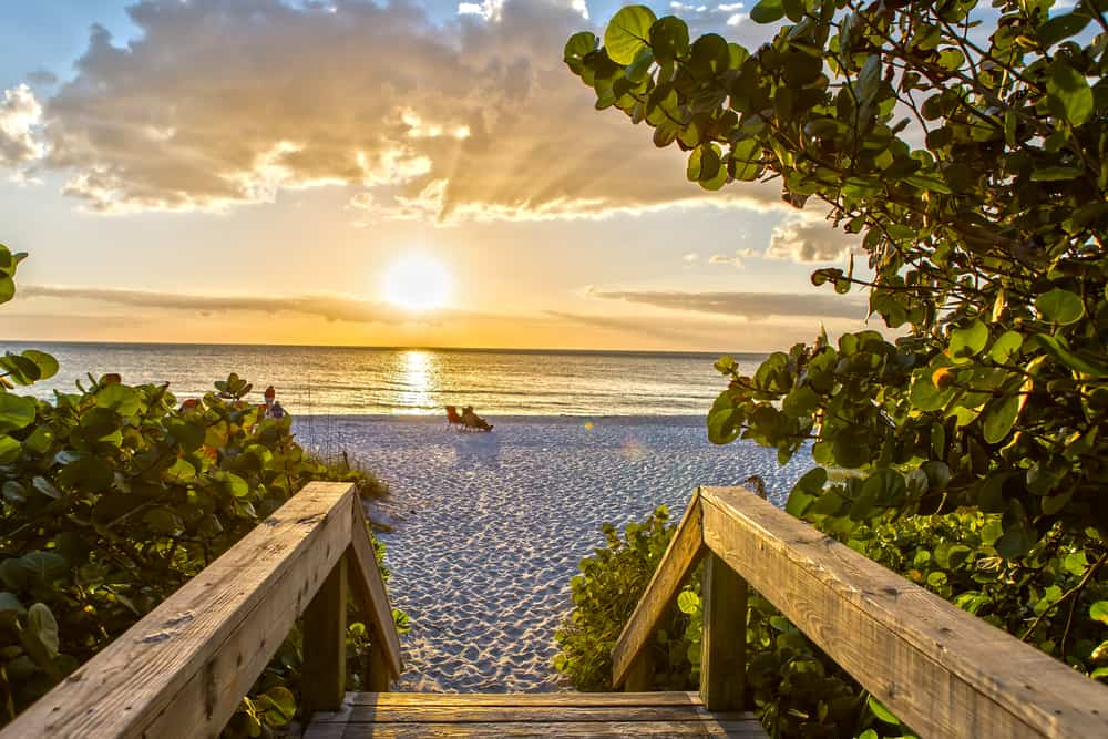This South Florida beach in Naples is so pretty and worth the visit.