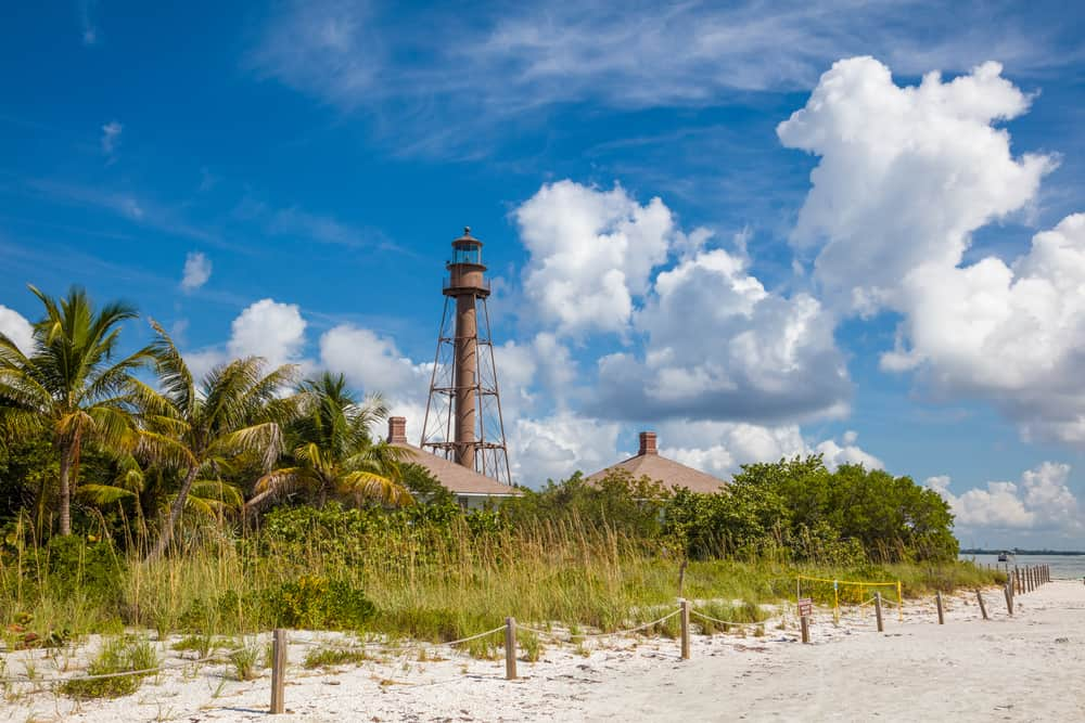 Lighthouse Beach on Sanibel Island is a unique beach in South Florida.