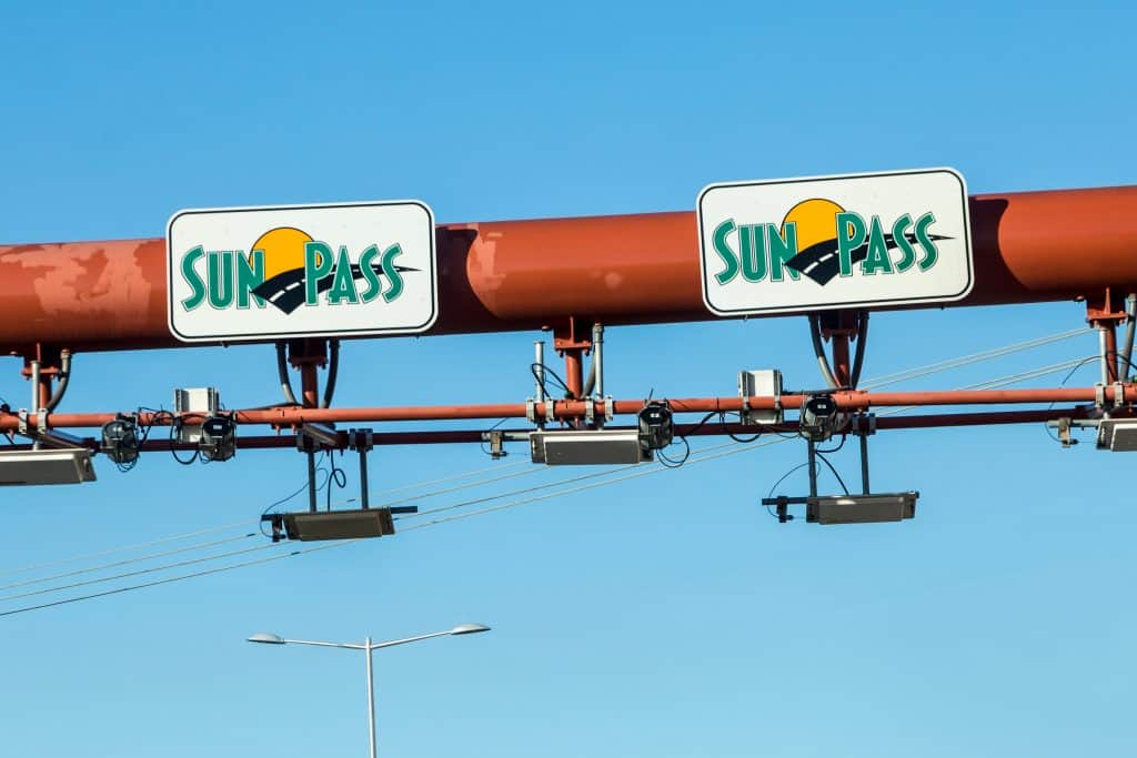 Sun Pass stations along the toll road will collect your information as you drive by.