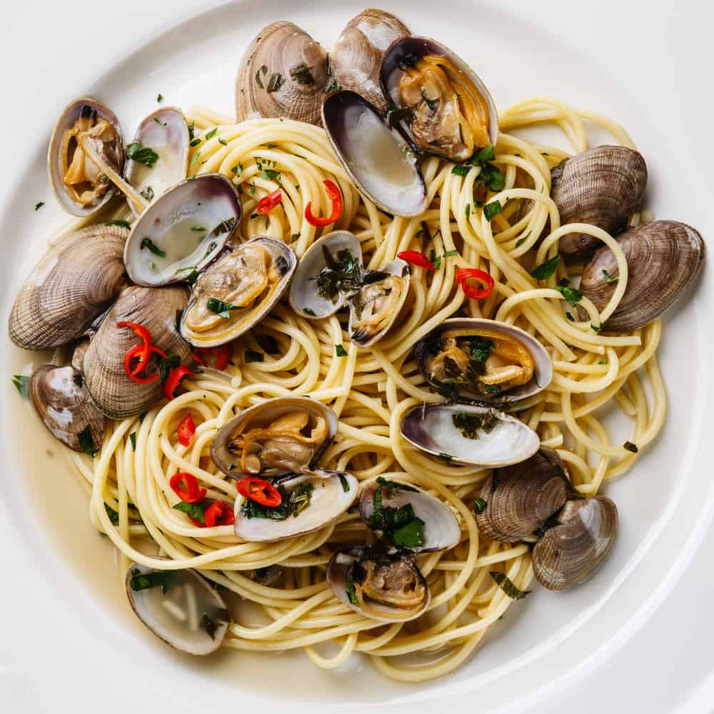 pasta with clams at this Italian restaurant