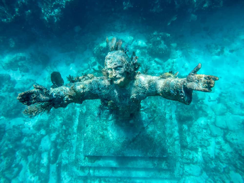 This Scuba diving in florida spot is one of the only places where you can see a christ of the abyss statue!