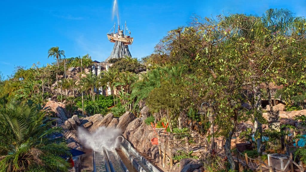 A wide view of the greenery of Typhoon Lagoon