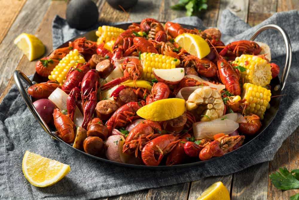 The classic Cajun boil is a staple of Dee's Hangout, one of the best places to eat in Panama City Florida