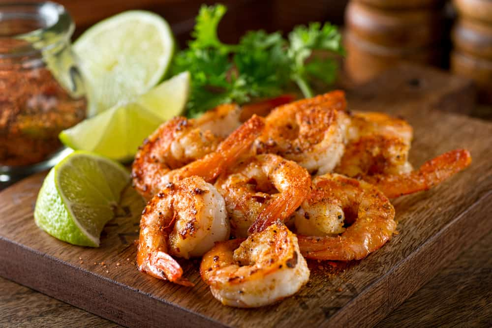 Deliciously seasoned shrimp at Boon Docks, some of the best Panama City food