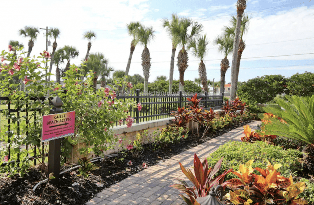This saint augustine hotel on the beach has such beautiful gardens for you to explore