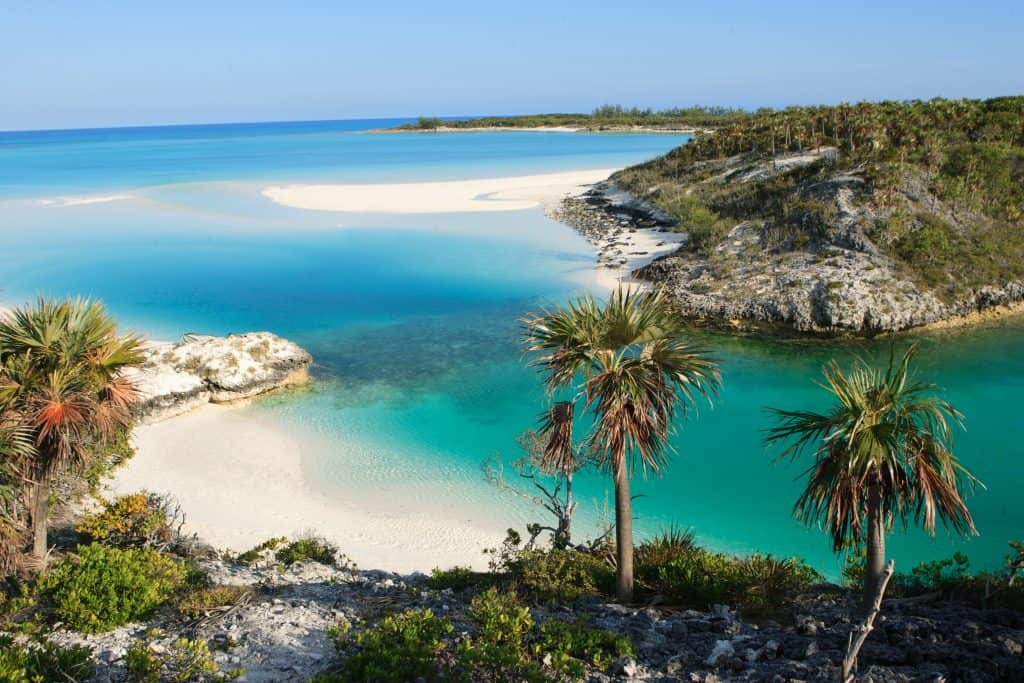 The beaches and mountains of the Bahamas, one of the best Miami day trips.