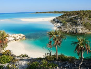 The beaches and incredible blue waters of the Bahamas.