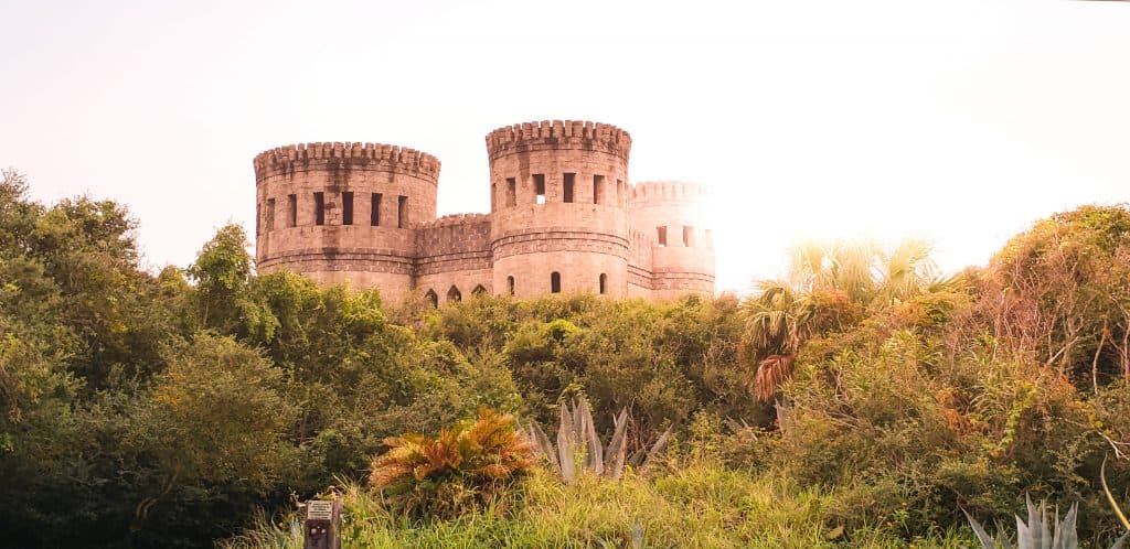 Head to Otttis castle a European style castle with round towers jutting 50 feet in air