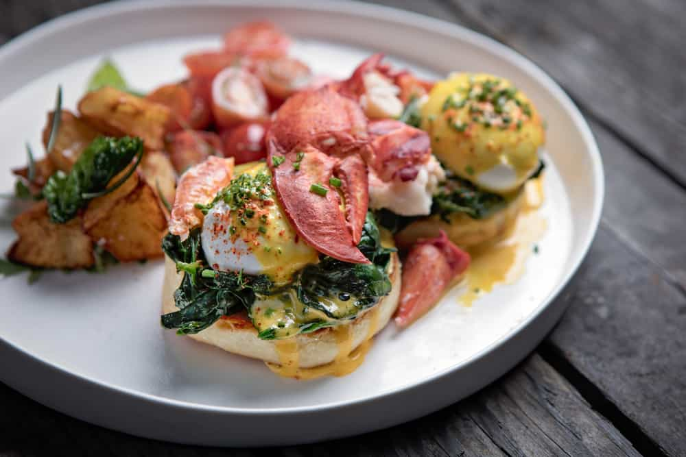 Lobster egg Benedict