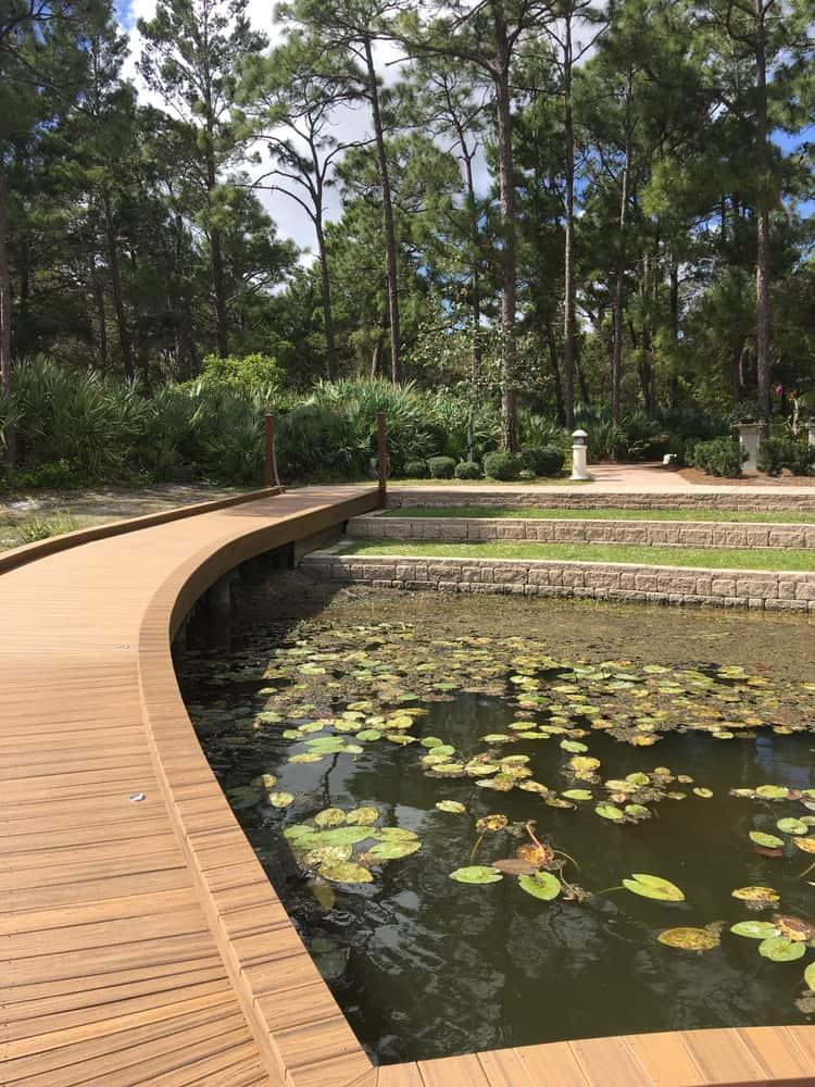 The river boardwalk in Port St. Lucie Botanical Gardens.