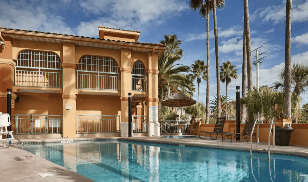 the Best Western St. Augustine Beach Inn is just a two minute walk away from the beach!