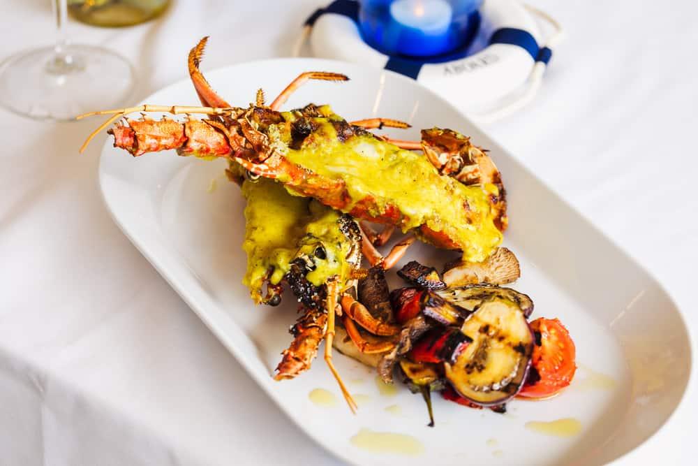 a fine dining lobster dinner