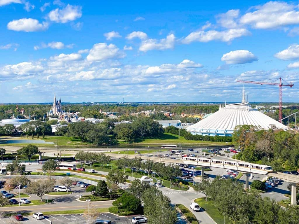 Photo of Disney monorail hotels view from contemporary resort