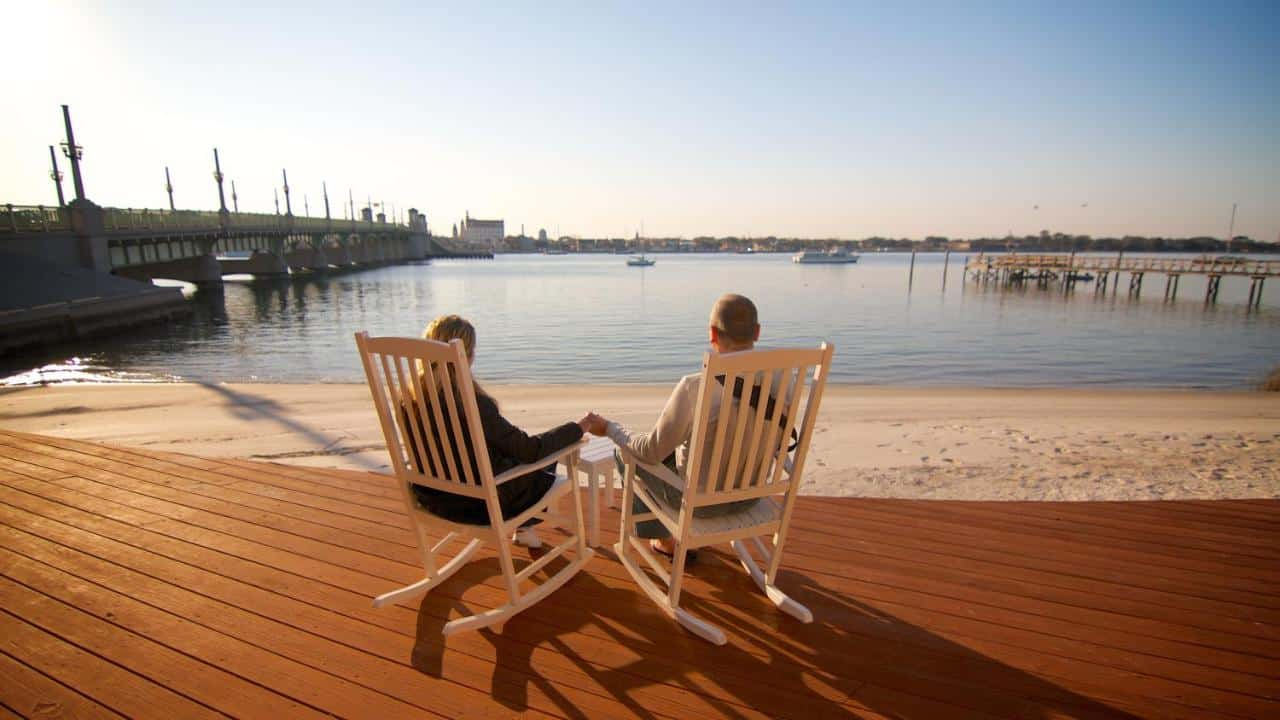 This amazing hotel in saint augustine has a veranda right on the sand!