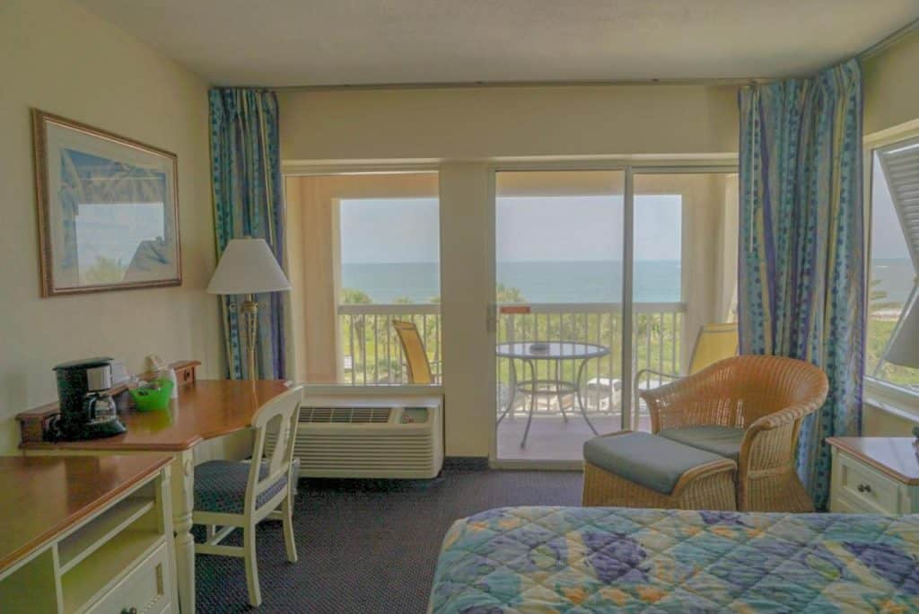 All of the rooms at oceanview lodge come with their own balcony and views of the beach