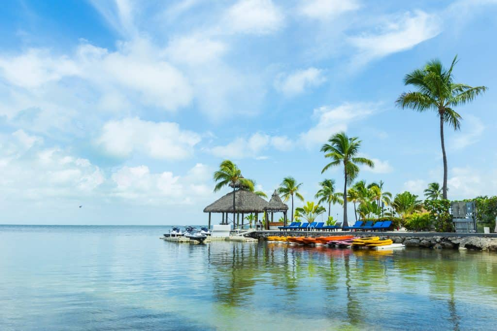 A small dock in Key Largo