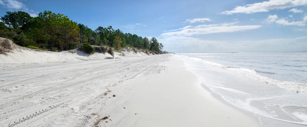 The beautiful white sands of Fernandina Beach one of the best beaches in Jacksonville.