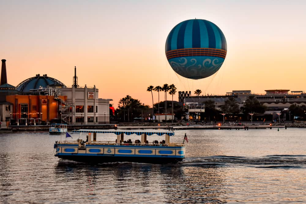 sunset at disney springs one of many free things to do in orlando