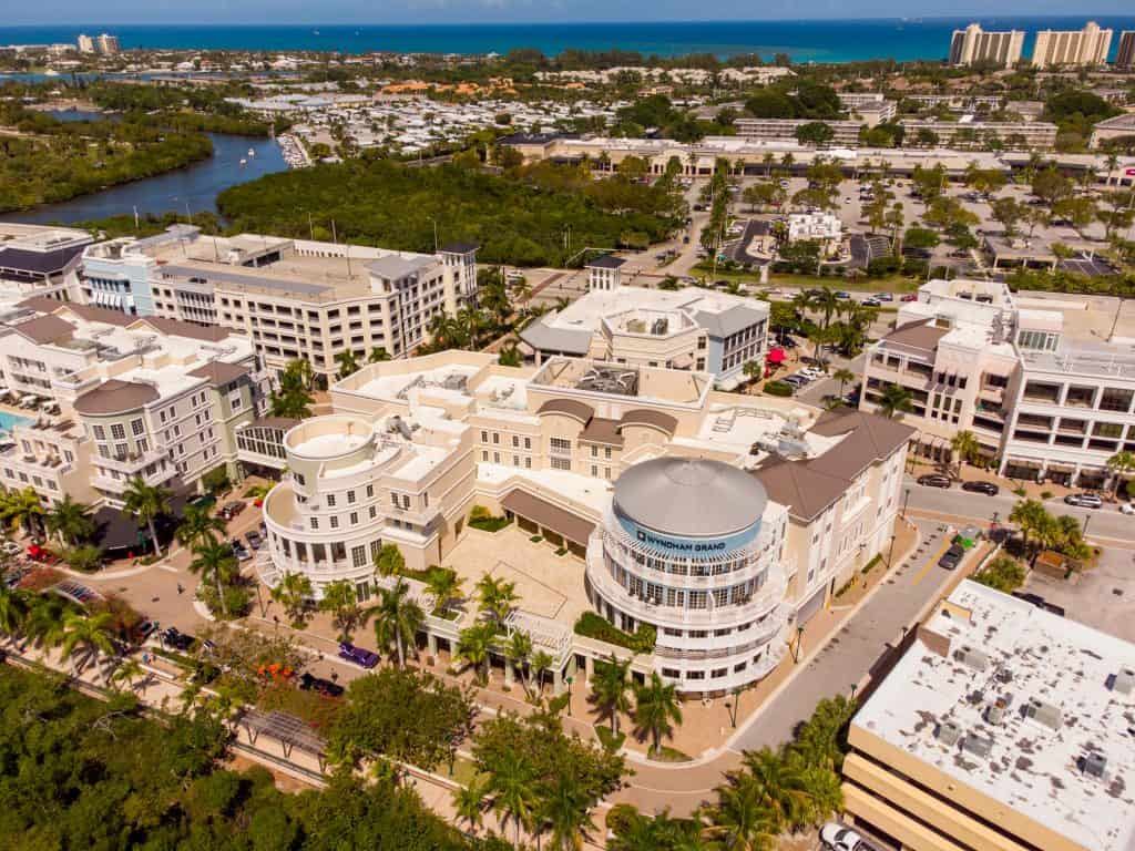 Harbourside Place, full of retail adventure, is one of the best things to do in Jupiter