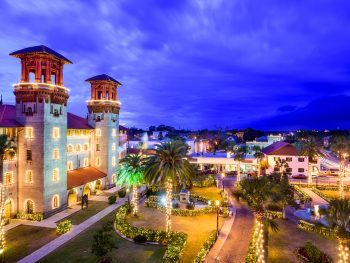 view of saint augustine one of the best christmas towns in florida