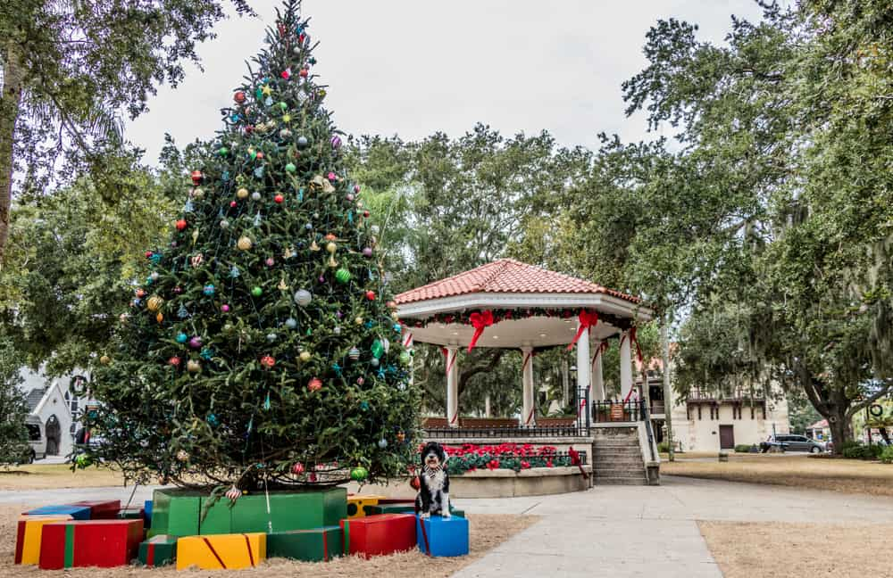 saint augustine during a florida christmas vacation