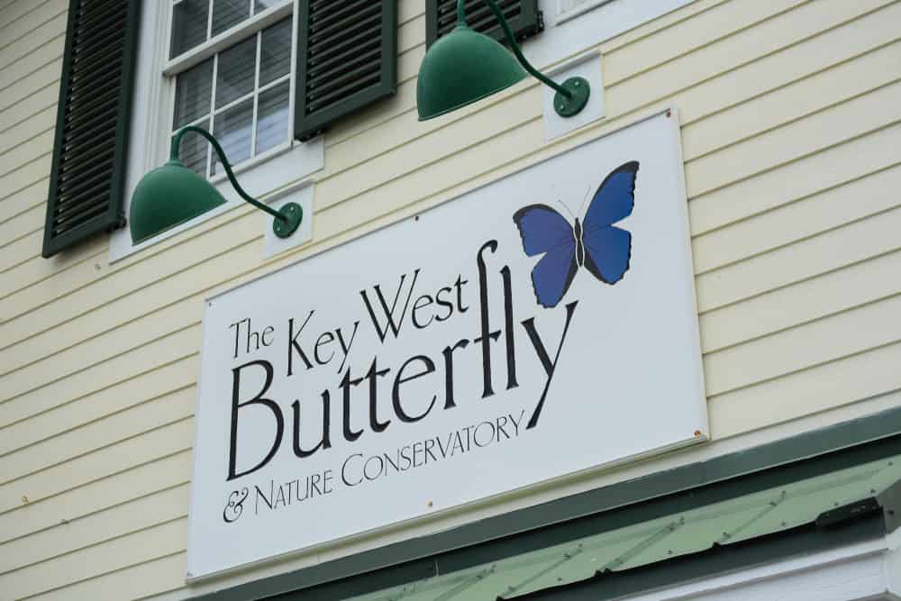 The Key West Butterfly and Nature Conservatory sign.