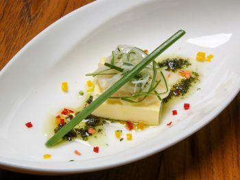try the molecular gastronomy plant based food