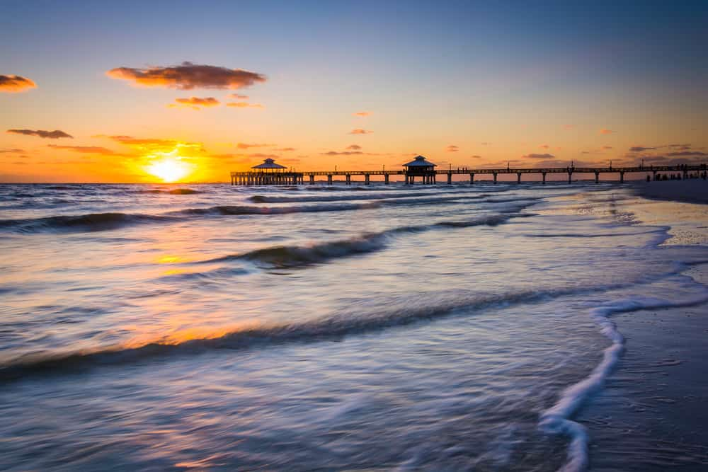 Photo of the sunset over Fort Myers Beach