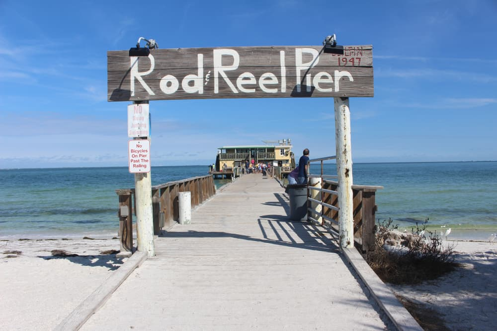 Rod and Reel Pier restaurant on the pier over the water for breakfast in Anna Maria Island